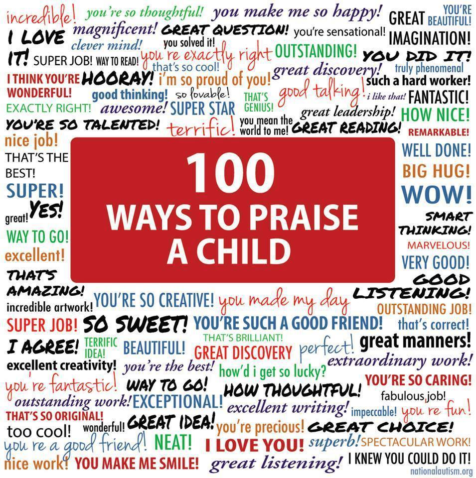 Awesome Autism+ 100 ways to praise - Iriss Corner